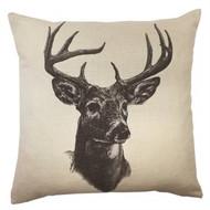 Whitetail Deer Linen Pillow