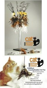 Vee Purrfect Crunchy Feather Cat Wand