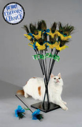 VEE PURRfect Peacock Feather Cat Toy