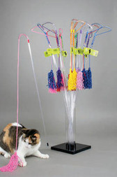 VEE PURRfect Curly Cat Toy (ASST colors)