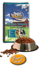 Nutrisource All Life Stages Grain Free Chicken Dog Food, 30 lb.