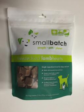 Small Batch Freeze Dried Lamb Heart Treats, 3.5 oz.