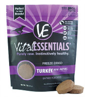 Vital Essentials Freeze Dried Mini Patties, Turkey, 1 lb.