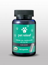 Pet ReLeaf CBD Hemp Oil Capsules - 450 mgs.