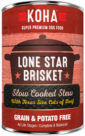 Koha Lone Star Brisket Stew Dog Food, 12.7 oz.
