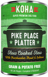 Koha Pike Place Platter Stew Dog Food, 12.7 oz.