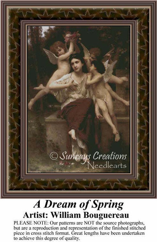 A Dream of Spring, Fine Art Counted Cross Stitch Pattern