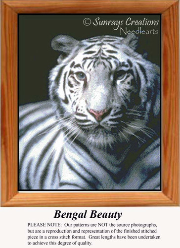 Bengal Beauty, Animal Cross Stitch Pattern