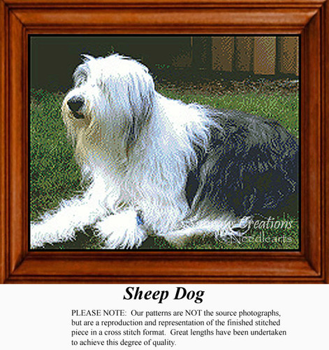 Sheep Dog, Animals Counted Cross Stitch Pattern