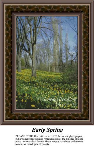 Early Spring, Spring Counted Cross Stitch Patterns, Landscapes Counted Cross Stitch Pattern