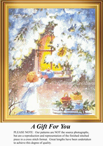 A Gift for You, Vintage Counted Cross Stitch Pattern