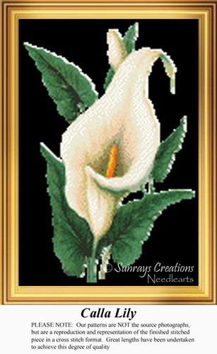 Calla Lily Cross Stitch Pattern | Calla Lily