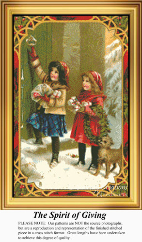 The Spirit of Giving, Vintage Counted Cross Stitch Pattern