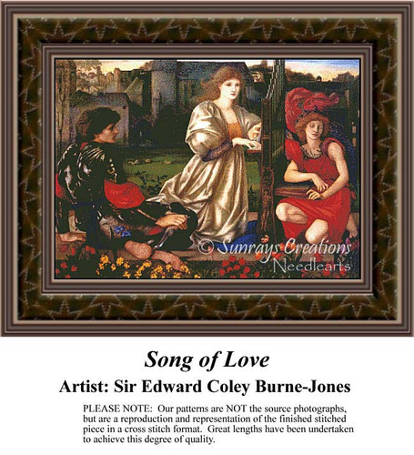 Song of Love, Fine Art Counted Cross Stitch Pattern