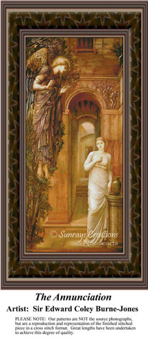 The Annunciation, Fine Art Counted Cross Stitch Pattern