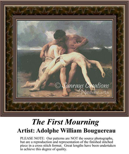 The First Mourning, Fine Art Counted Cross Stitch Pattern