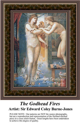 The Godhead Fires, Fine Art Counted Cross Stitch Pattern