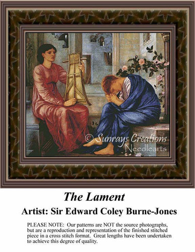 The Lament, Fine Art Counted Cross Stitch Pattern, Social Counted Cross Stitch Pattern
