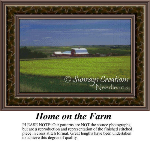 Home on the Farm, Landscapes Counted Cross Stitch Pattern