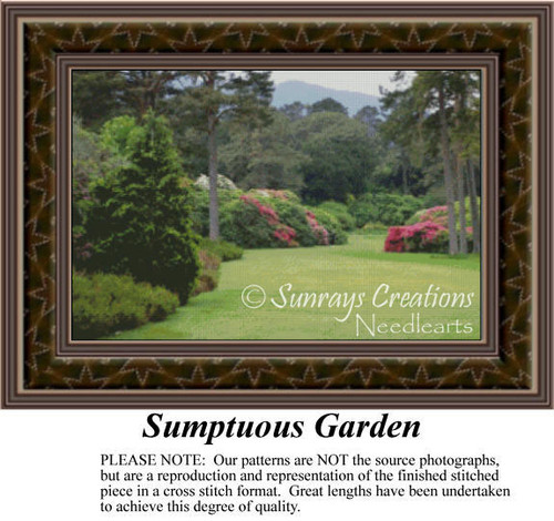 Sumptuous Garden, Landscapes Counted Cross Stitch Pattern
