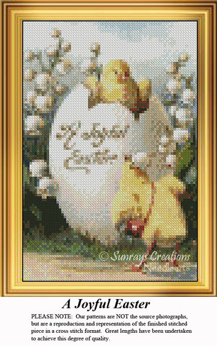 A Joyful Easter, Easter Miniatures Counted Cross Stitch Pattern