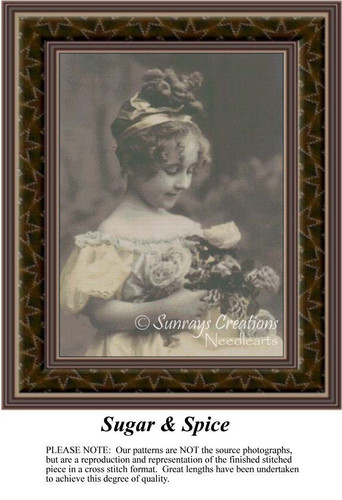 Sugar & Spice, Sepia Counted Cross Stitch Pattern