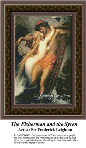 The Fisherman and the Syren, Fine Art Counted Cross Stitch Patterns