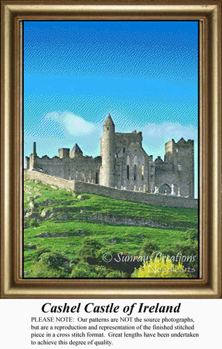 Cashel Castle of Ireland, Irish Counted Cross Stitch Patterns