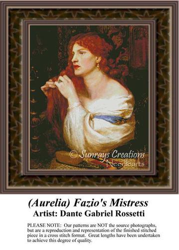 (Aurelia) Fazio's Mistress, Fine Art Counted Cross Stitch Pattern, Women Counted Cross Stitch Pattern