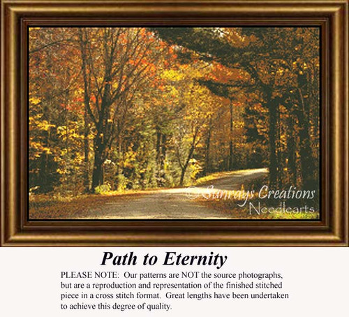 Path to Eternity, Trees Counted Cross Stitch Pattern