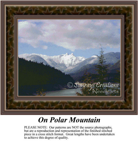 On Polar Mountain, Landscapes Counted Cross Stitch Pattern