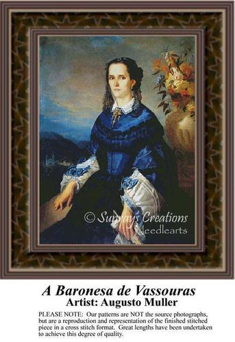 A Baronesa de Vassouras, Fine Art Counted Cross Stitch Pattern, Women Counted Cross Stitch Pattern
