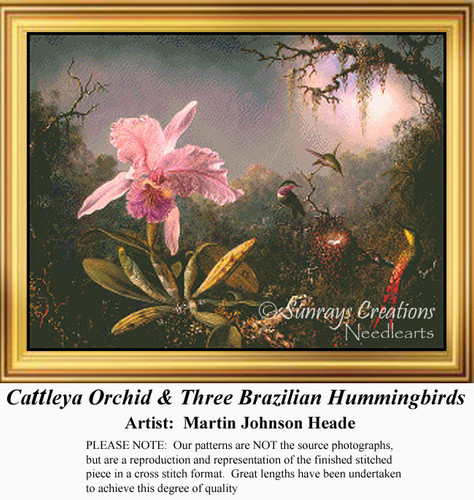 cattleya orchid and three brazilian hummingbirds Cattleya orchid and three brazilian hummingbirdsby martin johnson heade, 1871perhaps inspired by the writings of charles darwin, the artist studied these su.