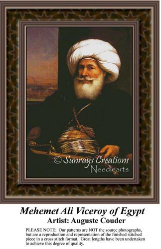Mehemet Ali Viceroy of Egypt, Fine Art Counted Cross Stitch Pattern, Men Counted Cross Stitch Pattern