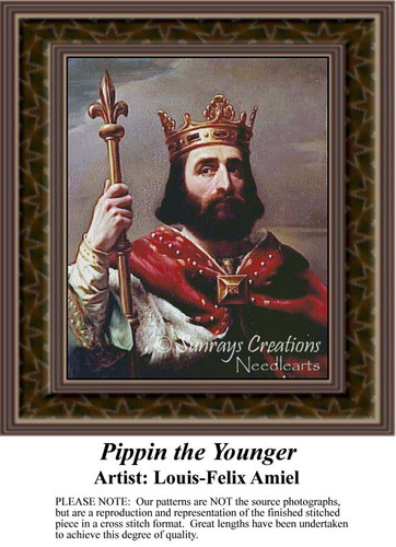 Pippin the Younger, Nobility Counted Cross Stitch Pattern, Fine Art Counted Cross Stitch Pattern