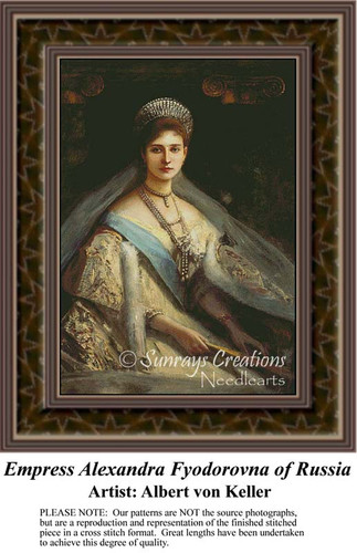 Empress Alexandra Fyodorovna of Russia, Fine Art Counted Cross Stitch Pattern