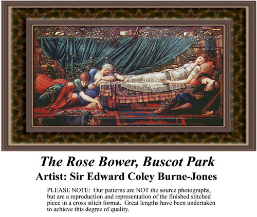 The Rose Bower, Fine Art Counted Cross Stitch Pattern