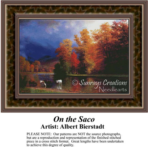 On the Saco, Fine Art Counted Cross Stitch Pattern, Waterscapes Counted Cross Stitch Pattern