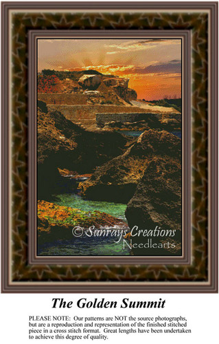 The Golden Summit, Landscapes Counted Cross Stitch Pattern