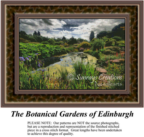 The Botanical Gardens of Edinburgh, Landscapes Counted Cross Stitch Pattern