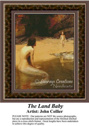 The Land Baby, Fine Art Counted Cross Stitch Pattern