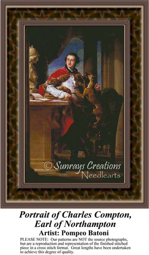Portrait of Charles Compton, Earl of Northampton, Nobility Counted Cross Stitch Pattern, Fine Art Counted Cross Stitch Pattern