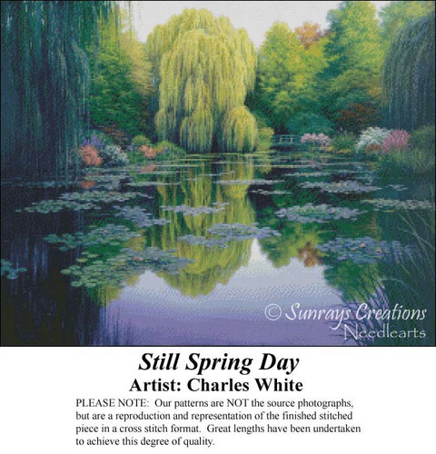 Still Spring Day, Charles White Counted Cross Stitch Pattern, Spring Counted Cross Stitch Pattern