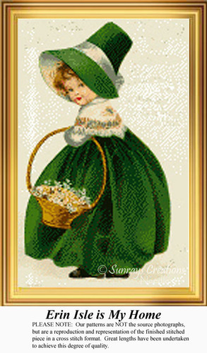 Erin Isle is My Home, Irish Counted Cross Stitch Pattern