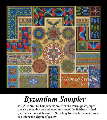 Byzantium Sampler, Fractal Counted Cross Stitch Pattern