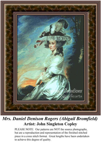 Mrs. Daniel Denison Rogers (Abigail Bromfield), Fine Art Counted Cross Stitch Pattern