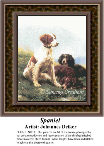Spaniel, Fine Art Counted Cross Stitch Pattern
