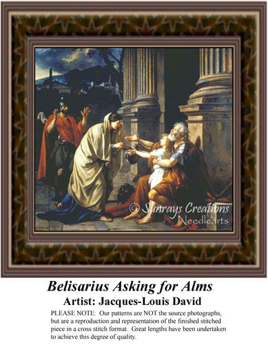 Belisarius Asking for Alms, Fine Art Counted Cross Stitch Pattern