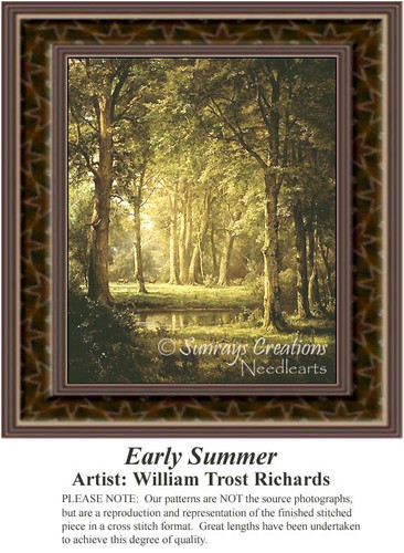 Early Summer, Fine Art Counted Cross Stitch Pattern, Summer Counted Cross Stitch Pattern