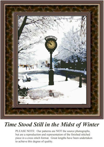 Time Stood Still in the Midst of Winter, Landscapes Counted Cross Stitch Pattern, Winter Counted Cross Stitch Pattern